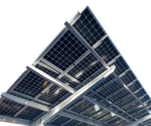 PVDynamics series 100 system with LG bifacial solar panels