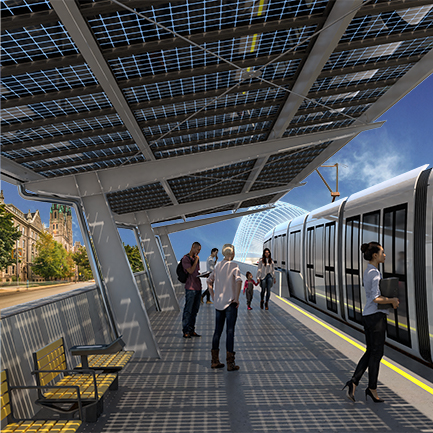 Solar Train Tram Station